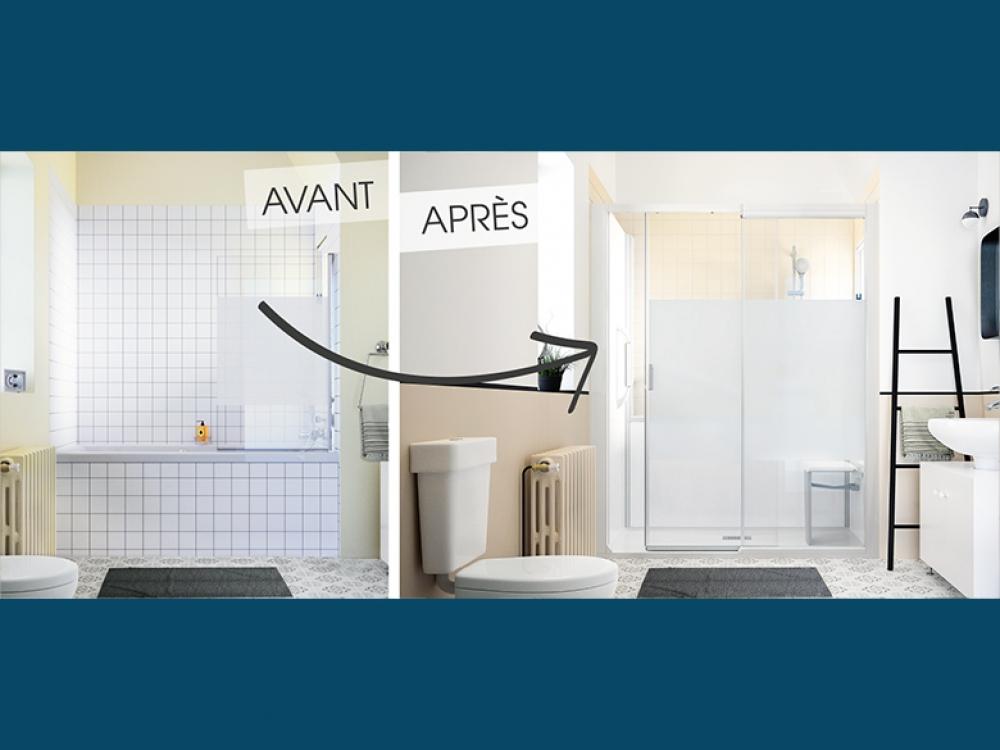 Changer une baignoire par une douche design rapidement - Remplacer une baignoire par une douche ...